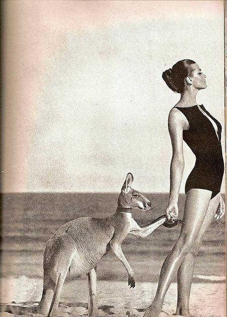 Photo by Helmut Newton, shot in Australia for Vogue, May 1964. I always take my kanga to the beach! hehe