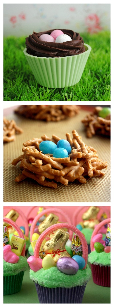 60 recipes for Easter Sunday---- Chow mein noddles, butterscotch morsels, and egg shaped candy.