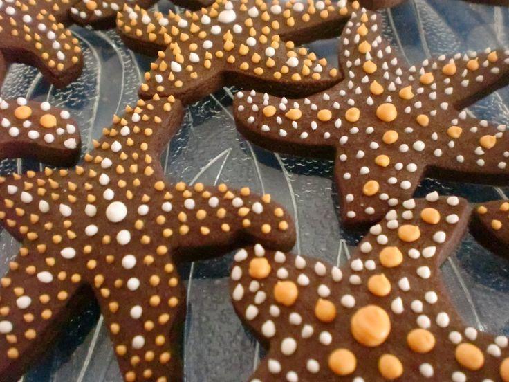 Galletas estrellas de mar.