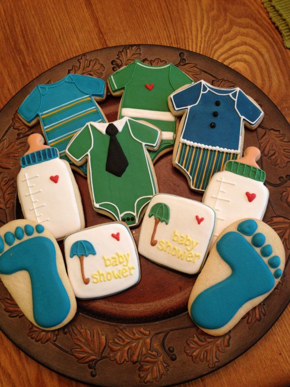 Baby shower cookie favors by CookiesbyBecky on Etsy, $30.00