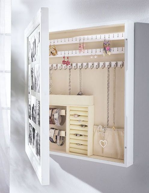 Hidden jewellery storage