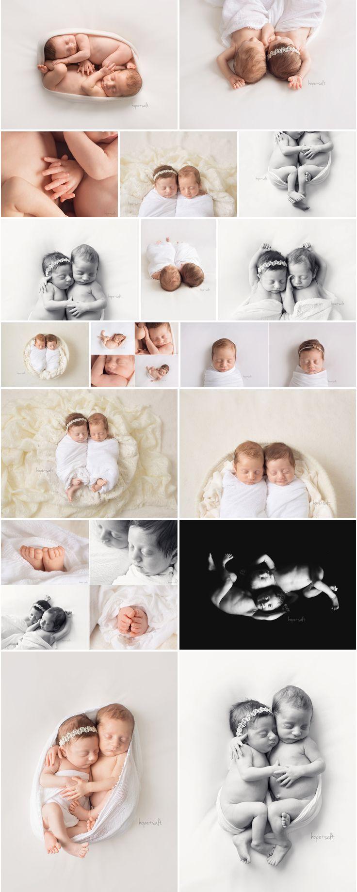 Simple, naturally posed newborn boy girl twins studio session. Hope + Salt Photography Burlington Ontario Baby Photographer