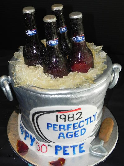 Bucket of Beer Cake! Crack one open while it's still cool!