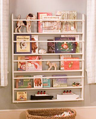 I already need for book storage 0_0! Martha used an old plate rack...