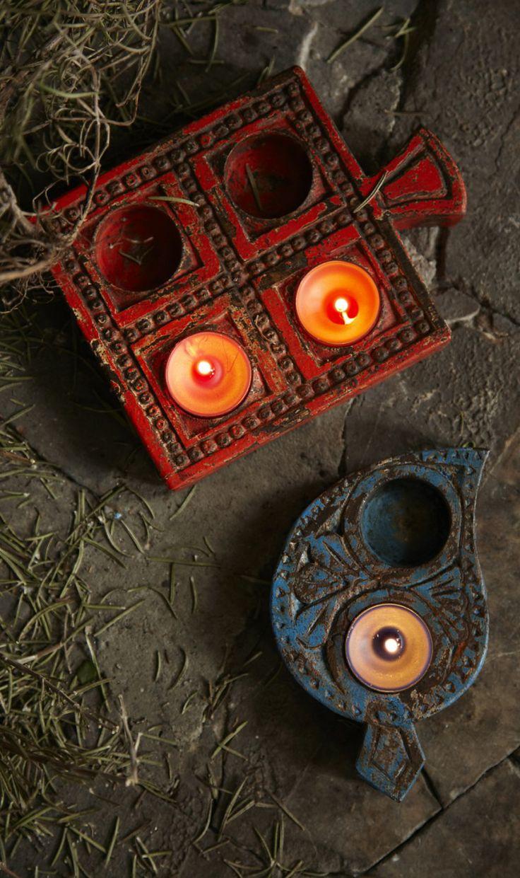 Tea light holders from Plumo