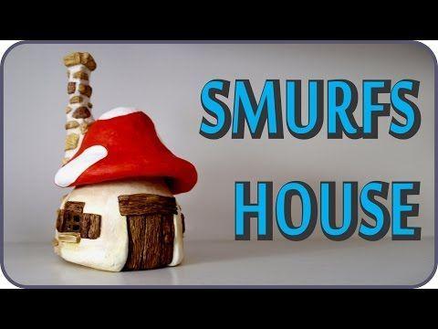 ❣DIY Smurfs Mushroom House Jar❣ - YouTube