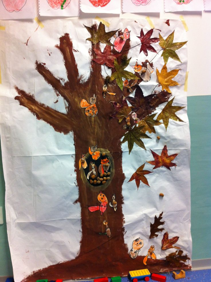 Il nostro albero d'AUTUNNO realizzato con foglie vere, noccioline e tanti scoiattolini!!! (La figura dell'albero é stata fatta con la tecnica della pittura per simmetria: i bambini hanno dipinto di marrone solo metá figura dell'albero e poi, piegando il foglio, ecco la magia (l'albero intero!) )