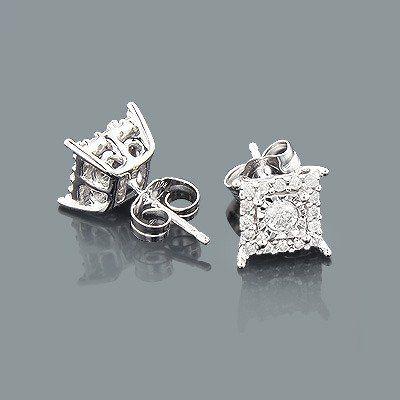 10K Gold Diamond Stud Earrings 1 carat look