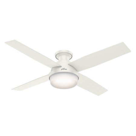 low profile white ceiling fan. hunter 52 inch dempsey low profile with light fresh white ceiling fan handheld