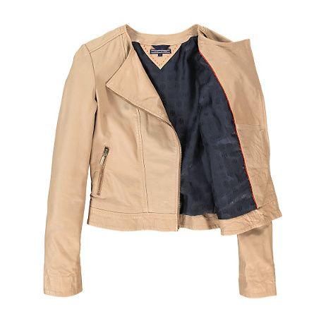 Tommy Hilfiger Pre-Spring 2014 Feya Leather Jacket