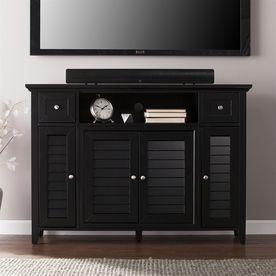 Boston Loft Furnishings Foster Satin Black Tv Cabinet Atg3920