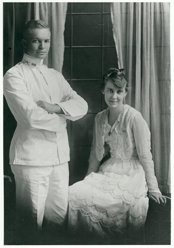 "July 1, 1916: Ike and Mamie said ""I do"". Photo: Wedding portrait of Dwight D. Eisenhower and Mamie Doud Eisenhower"
