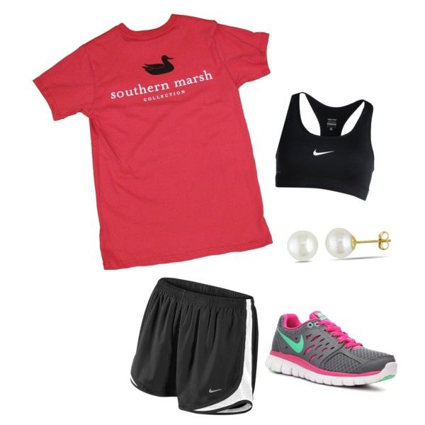 red black Southern Marsh t shirt Nike Tempo shorts sneakers