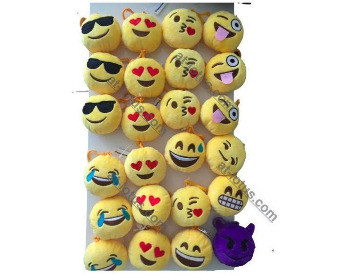 "Emoji Poop Smiley Face emoticon 3"" Plush clip-on keychain backpack accessory #Emojicon"