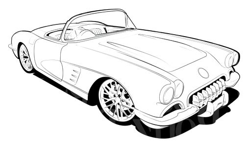 rc 1960 corvette coloring page corvette car coloring pages corvette pinterest cars coloring and coloring pages - Corvette Coloring Pages Printable