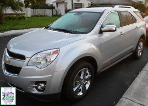 Chevy Equinox: http://teachme2save.com/2012/07/check-out-my-review-of-the-chevy-equinox-it-was-comfy-spacious-saved-me-money-on-gas/