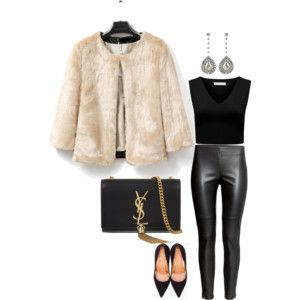 faux fur and leather
