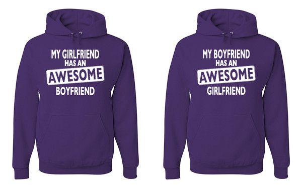 My Boyfriend Has An Awesome Girlfriend Has An Awesome Boyfriend Matching #Hoodies #Sweatshirts