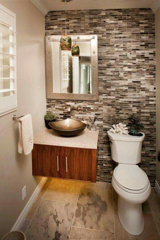 small powder room reflections to expand space bathroom inspiration rh pinterest com