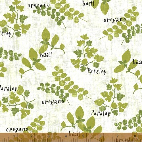 Cooking Italiano Herbs in White by Sue Schlabach  by sewmeasong