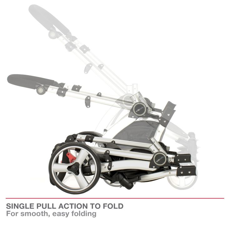 Redsbaby Bounce - The Ultimate All-In-One Stroller/ Pram www.redsbaby.com.au Clever single pull action to fold for smooth, easy folding