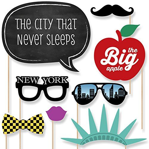 New York - Photo Booth Props Kit - 20 Count - http://nyc.officially.nyc/nyc-things/new-york-photo-booth-props-kit-20-count/