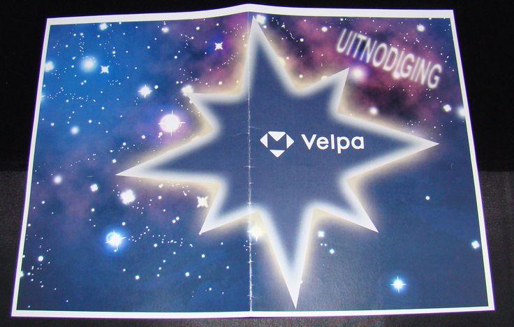 Voorkant ontwerp uitnodiging Velpa kerstviering