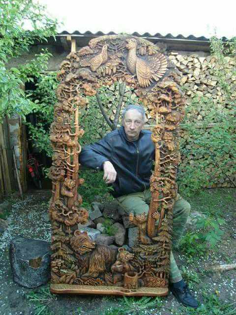 Incredible wood carving by Ivan Budich!