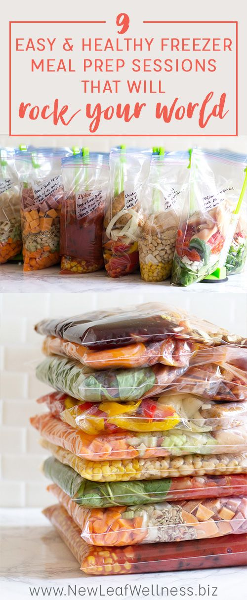 9 Easy and Healthy Freezer Meal Prep Sessions That Will Rock Your World
