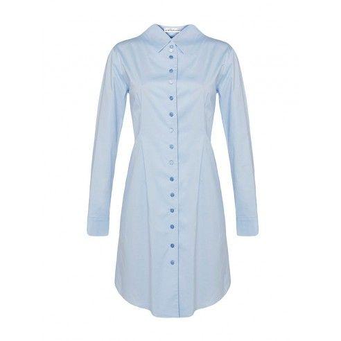 Mirka Talavášková světle modré košilové šaty