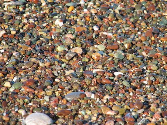 Moonstone Beach - Cambria, CA  The beach is made up of polished Moonstone agate, jade, sea glass, and other semi precious stones.