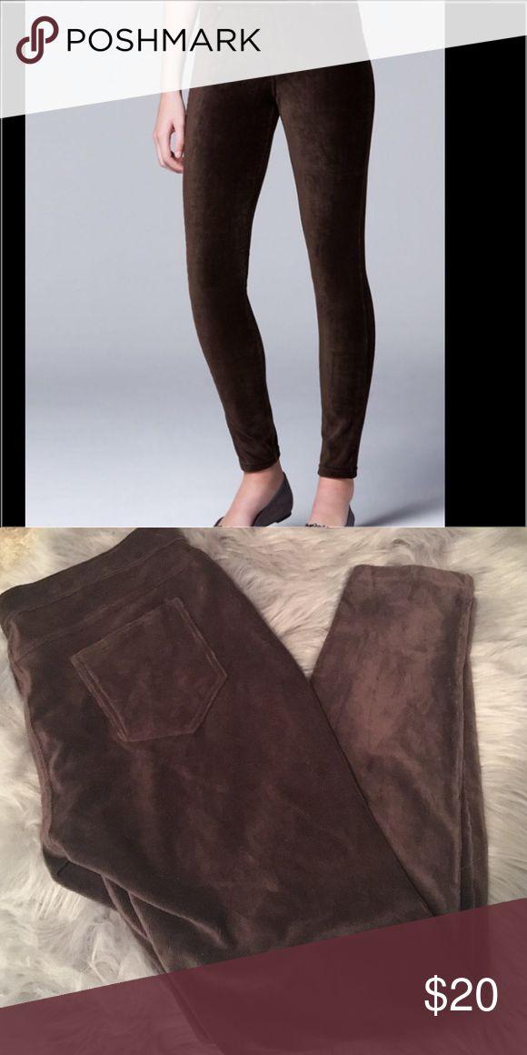 Vera Wang Brown Corduroy Leggings XL Brand new with tags. Simply Vera by Vera Wang, brown corduroy leggings. XL Simply Vera Vera Wang Pants Leggings