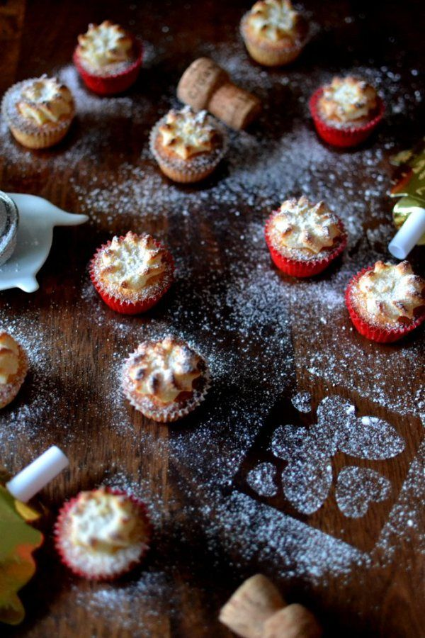 Mini Kransekage Cupcakes (Danish Wreath Cakes, with a twist): Perfect for New Year Eve!
