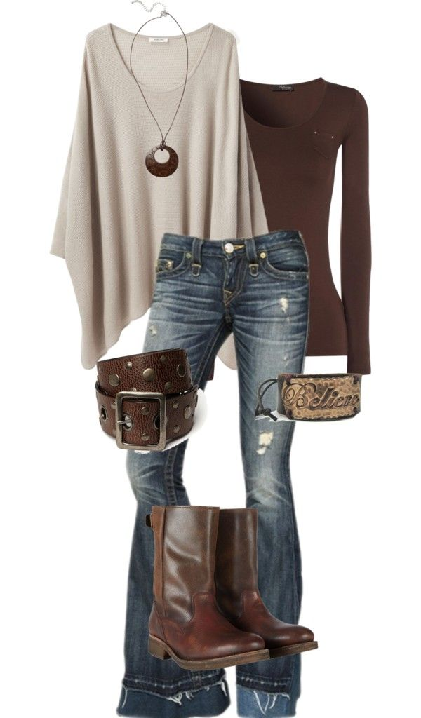 ☮ American Hippie Bohemian Style ~ Boho Jeans Outfit!