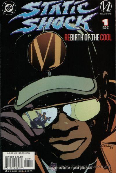 STATIC SHOCK: REBIRTH OF THE COOL, SERIE LTD COMPLETA DE 4 NÚMEROS, MILESTONE/ DC COMICS, 2.001. USA