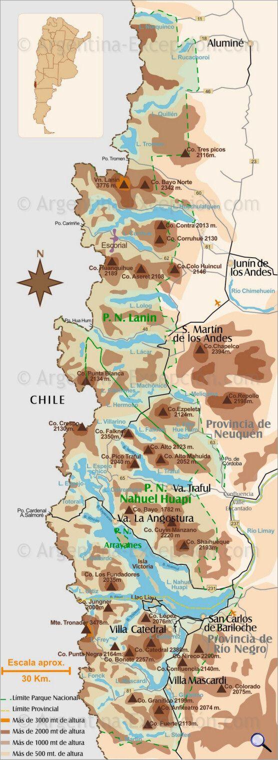 Patagonia lakes routemap