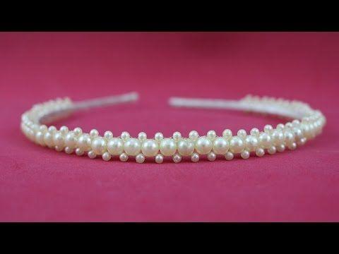 Faça você mesma: tiara para bebês com elastico - YouTube