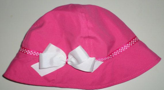 Toddler Sun Hats  Toddler Girls Summer Hats  Pink by SugarBearHair