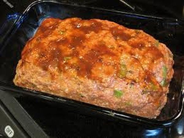 pat all the meat into a loaf and place into a 9x13 baking dish,...