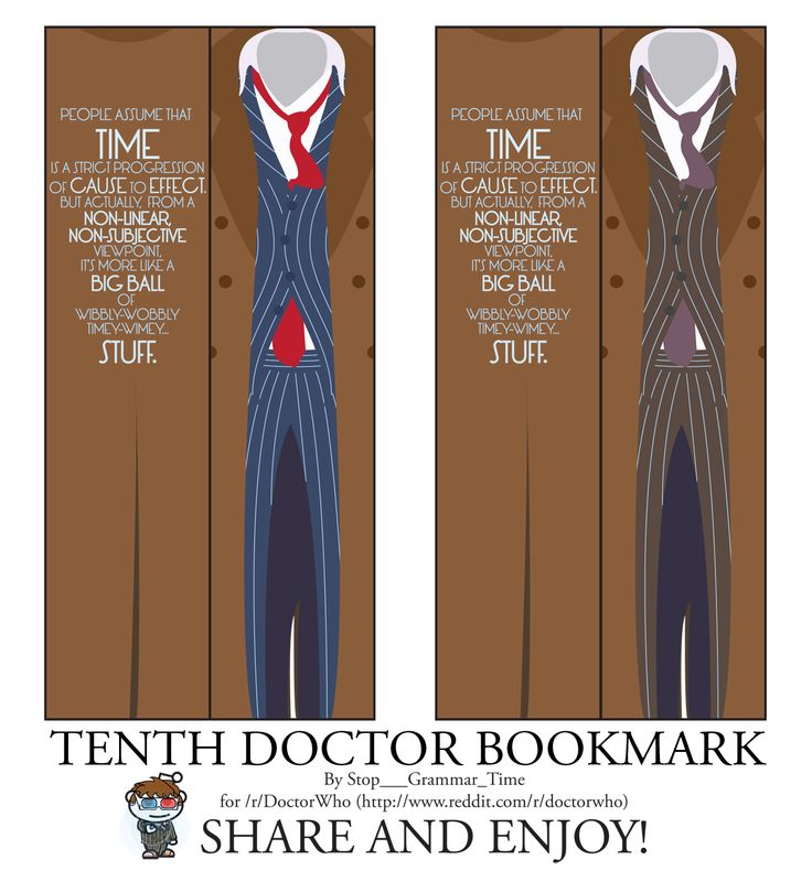 Tenth Doctor Who printable bookmarks 121 best