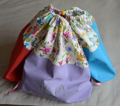 Aksamitna Pracownia: Worko-plecaki, czyli 2w1…