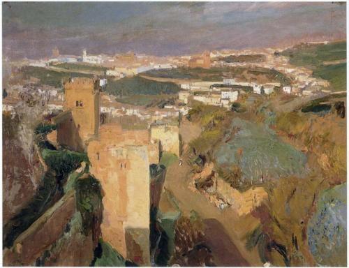 Tower of Seven, pont Alhambra, Granada - Joaquin Sorolla