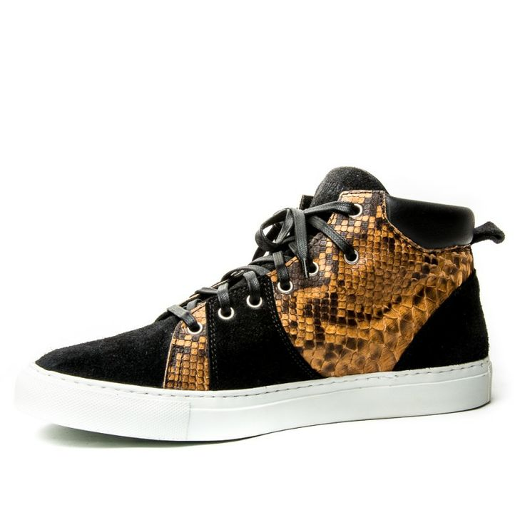 white mamba snake skin hat | Home > New In > Diemme Parioli Snake Skin Sneakers - Black/Brown