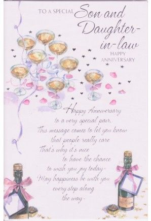 Sensational Happy Anniversary Daughter And Son In Law To A Special Funny Birthday Cards Online Chimdamsfinfo