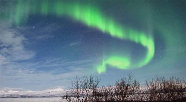Northern Lights, Abisko, Swedish Lapland. March 8, 2012