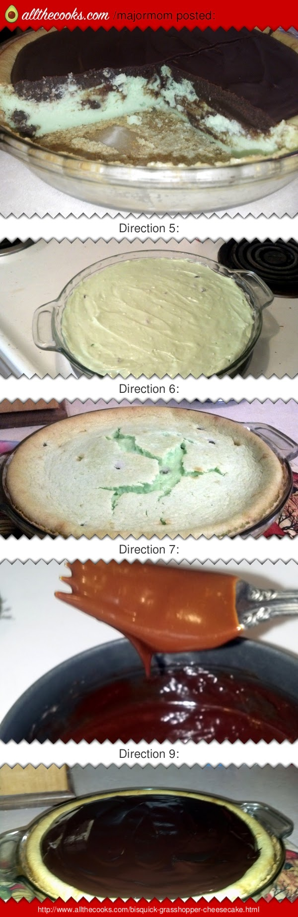Bisquick grasshopper cheesecake! 5.00 stars, 3 reviews. Im addicted :-S I made this again :-[ @allthecooks #recipe