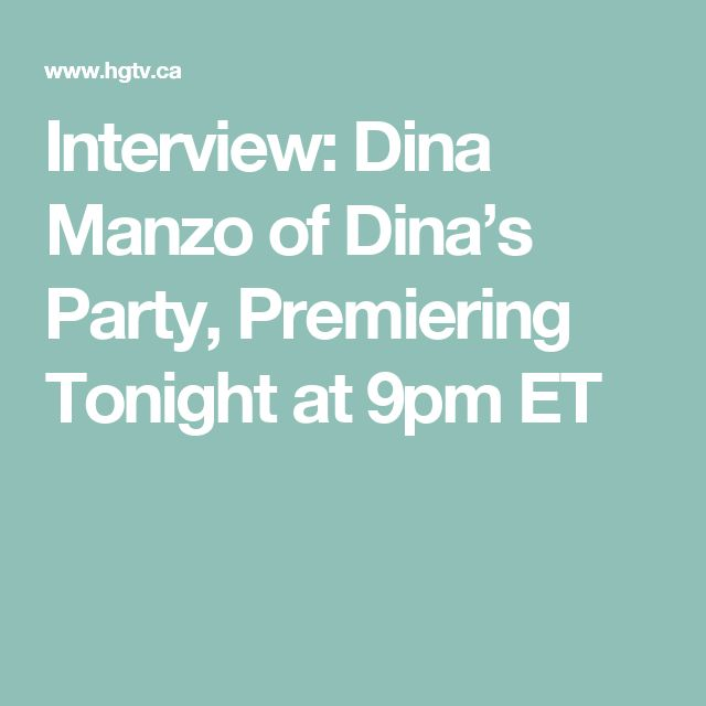 Interview: Dina Manzo of Dina's Party, Premiering Tonight at 9pm ET