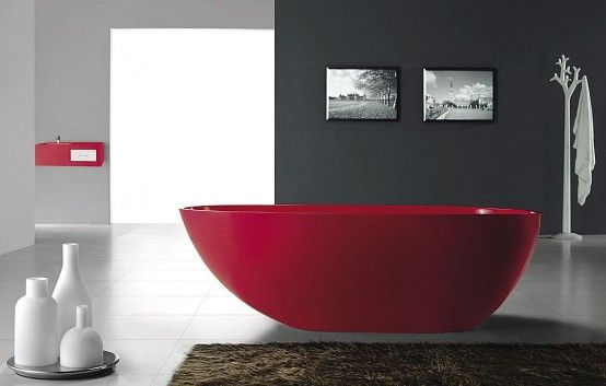 Google Image Result for http://www.homehow.net/wp-content/uploads/2010/11/Gorgeous-red-freestanding-bath-tub-from-Bella-Stone-1-554x353.jpg