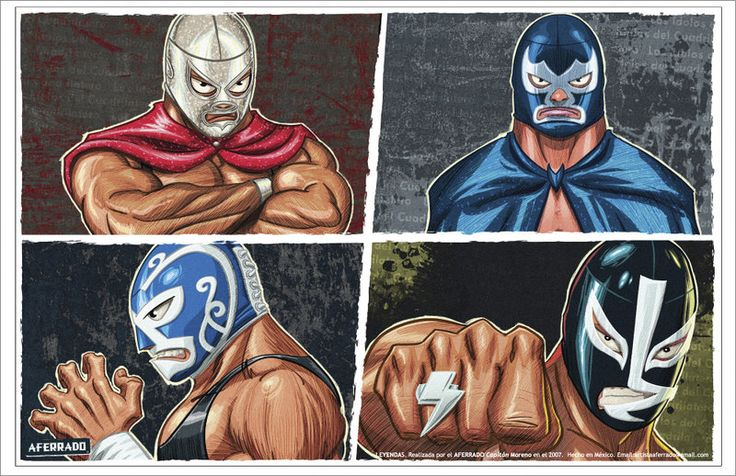 Luchador Art   Creative Commons Attribution-Noncommercial-No Derivative Works 3.0 ...