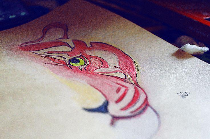 TIGER FACE BY.HELLENABASKARA #HANDDRAWING #DOODLE #ILLUSTRATIONS #ART